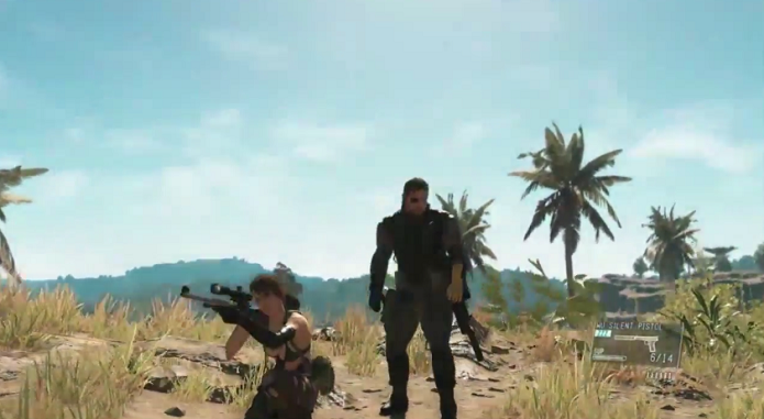 Metal Gear Solid V: The Phantom Pain pode ser visto em novas cenas de gameplay. (Foto: Reprodução/YouTube)