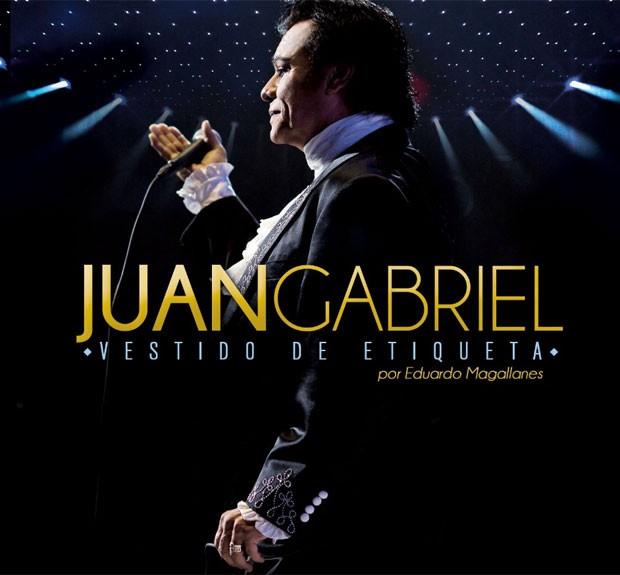 Capa do disco 'Vestido de etiqueta', lançado por Juan Gabriel em 12 de agosto (Foto: Reprodução/Facebook/Juan Gabriel)
