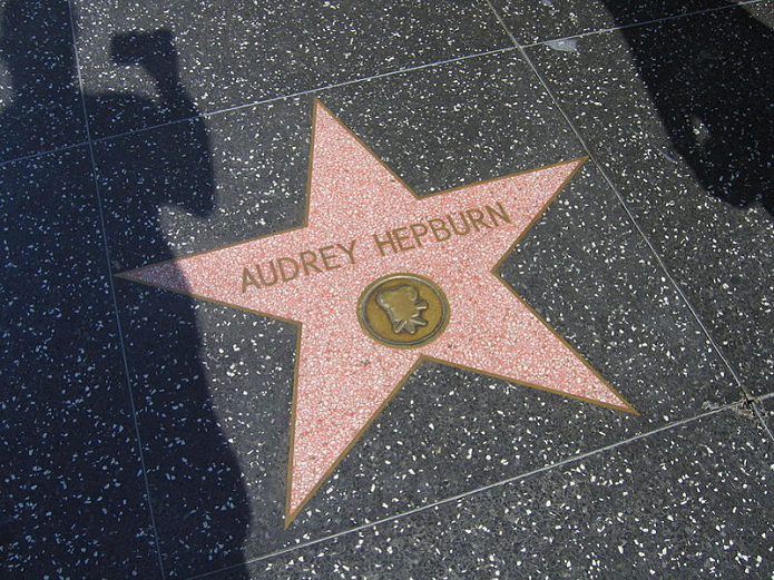 Estrela de Aubrey na Calçada da Fama (Foto: Reprodução/Wikimedia)