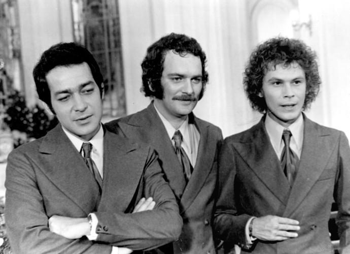 Em 'Os Ossos do Barão', Wilker era Martino Ghirotto, filho de pais italianos, mas que não queria saber de trabalho.e trabalho. (Foto: Cedoc / TV Globo)