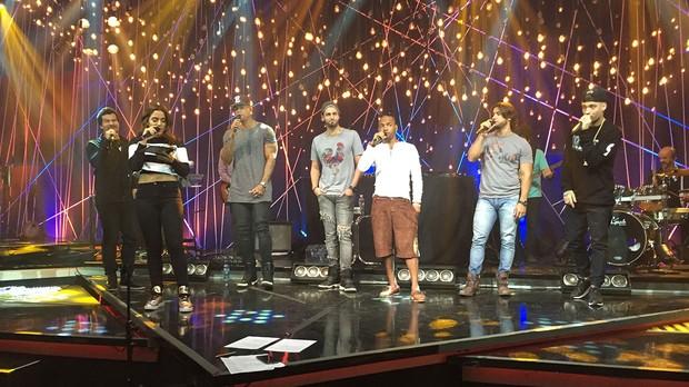 Msica Boa Ao Vivo - Munhoz e Mariano, Nego do Borel e Leo Santana (Foto: Multishow)