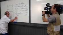 JA de Joinville estreia quadro 'Matemática do JEC' ( RBS TV/Divulgação)