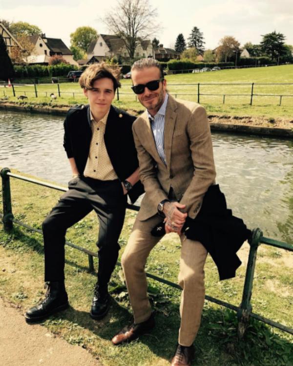 David Beckham e Brooklyn Beckham (Foto: Reprodução/Instagram)