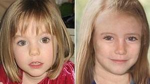 Madeleine à época do desaparecimento e como poderia estar hoje (Foto: BBC)