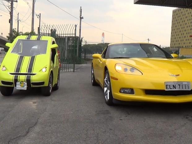 Visitantes podem alugar Corvette para uma volta no Anhembi (Foto: Reprodução/G1)