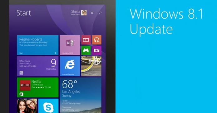 Windows 8.1 Update chegou, conheça as novidades (Foto: Montagem/Reprodução/Edivaldo Brito)