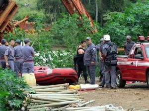 Acidente de trabalho nas obras de ampliação do anel viário de Piracicaba (Foto: Sinticompi/Divulgação)