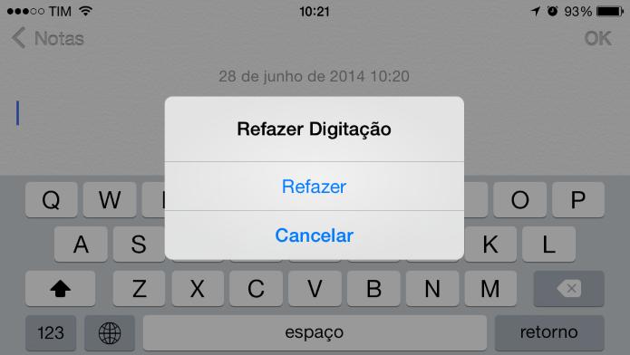 Refazendo digitação (Foto: Reprodução/Helito Bijora)