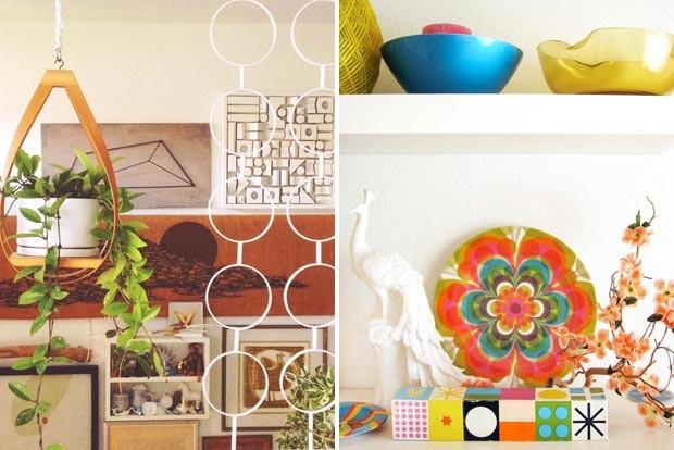 Para dar alegria ao lar não pode faltar uma planta, de acordo com Jonathan. O mix com os objetos de decoração que remetem a lugares tropicais completam o cantinho favorito do blogueiro (Foto: Rachel Whiting/Divulgação)