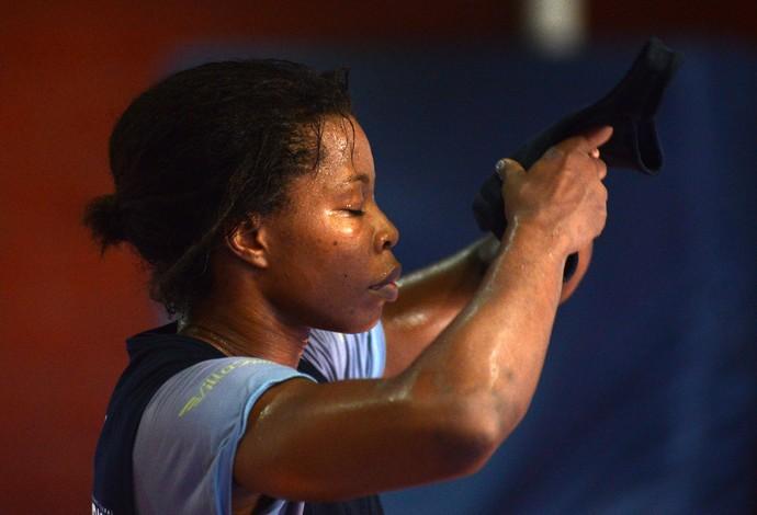 Joice Silva treino luta olímpica (Foto: André Durão)