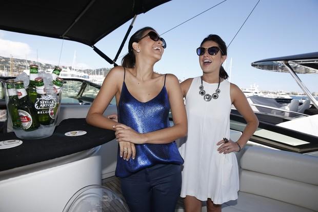 Mariana Rios e Fernanda Paes Leme em Cannes (Foto: Felipe Panfili / AgNews)