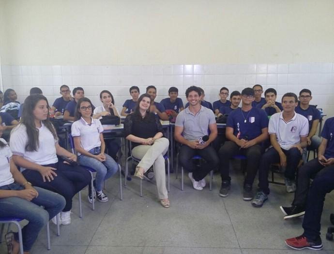 'Geração Saúde' num bate papo com estudantes  (Foto: Fernando Petrônio)