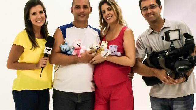 TV Tribuna acompanha a gravidez dos quíntuplos no litoral de São Paulo (Foto: Arquivo Pessoal)