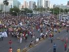 Em dia de mobilização, protesto fecha Av. ACM, em Salvador, por quase 4h