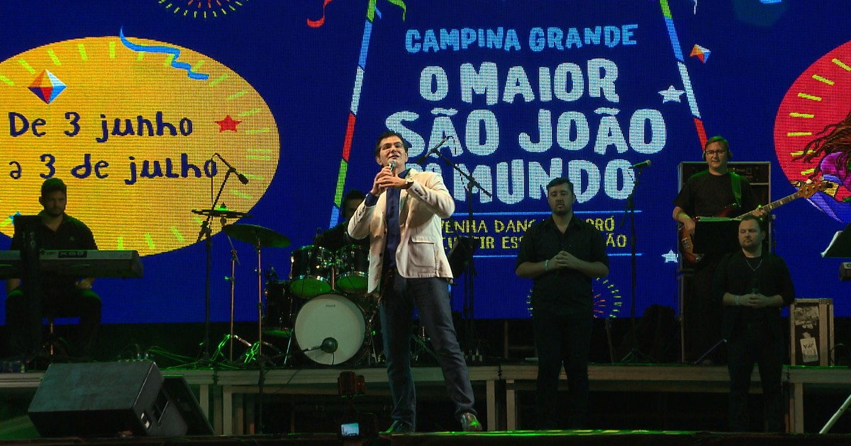 Padre Manzotti exalta shows cristãos em CG (Reprodução TV Paraíba). durante maior  são joão do mundo 9597d83cdd