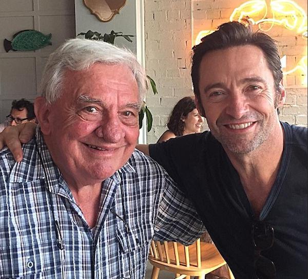 O ator Hugh Jackman com o pai (Foto: Instagram)