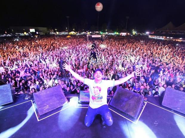 Wesley Safadão embalou uma verdadeira multidão (Foto: Solon Queiroz)