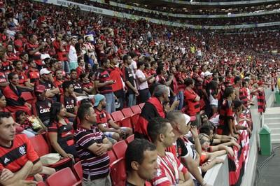 Torcida Flamengo Mané Garrincha (Foto: Gilvan de Souza / Flamengo)