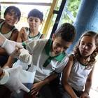 Alunos dão aula em sociedade de assistência (Ares Soares/Unifor)