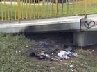 Morador de rua tem corpo queimado (Reprodução/ TV Vanguarda)