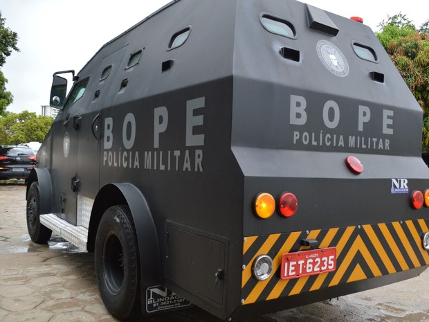 """""""Caveirão"""" será usado em ações de maior ostensividade pelo BOPE (Foto: Divulgação/PM do RN)"""