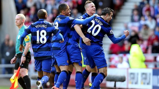 Van persie manchester united gol sunderland - Agência AP (Foto: Agência AP)