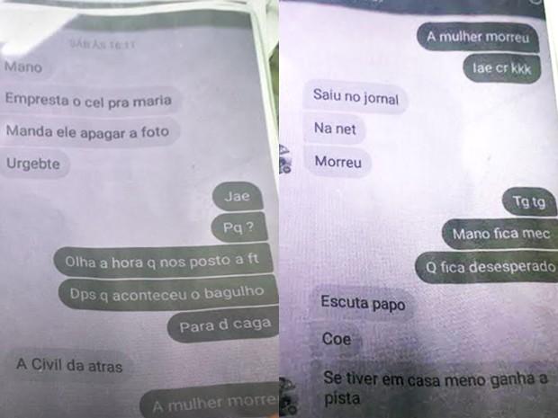 Menor conversou com suspeito que está foragido por whatsapp (Foto: Matheus Rodrigues / G1)