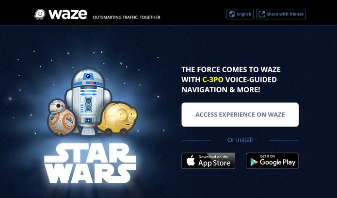 Waze ganha guia com a voz do personagem C-3PO de Star Wars (Foto: Reprodução/Barbara Mannara)