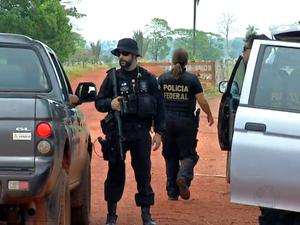 Polícia Federal, Garimpo, Pontes e Lacerda, MT (Foto: Reprodução/TVCA)