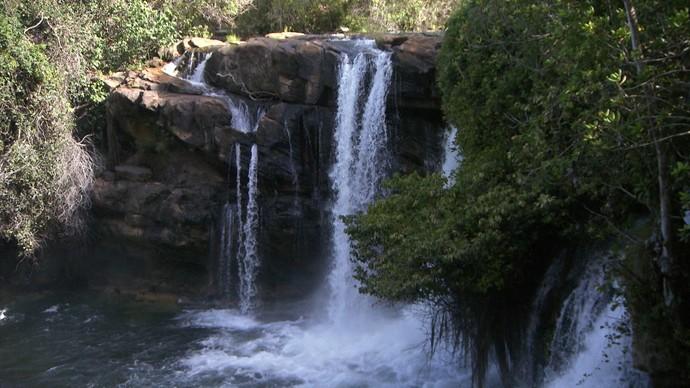 A Cachoeira do Redondo fica em Barreiras, no Oeste baiano (Foto: TV Bahia)