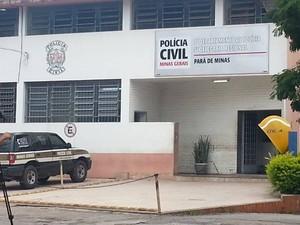 Sócio foi ouvido pela PF na Polícia Civil em Pará de Minas (Foto: Anna Lúcia Silva/G1)