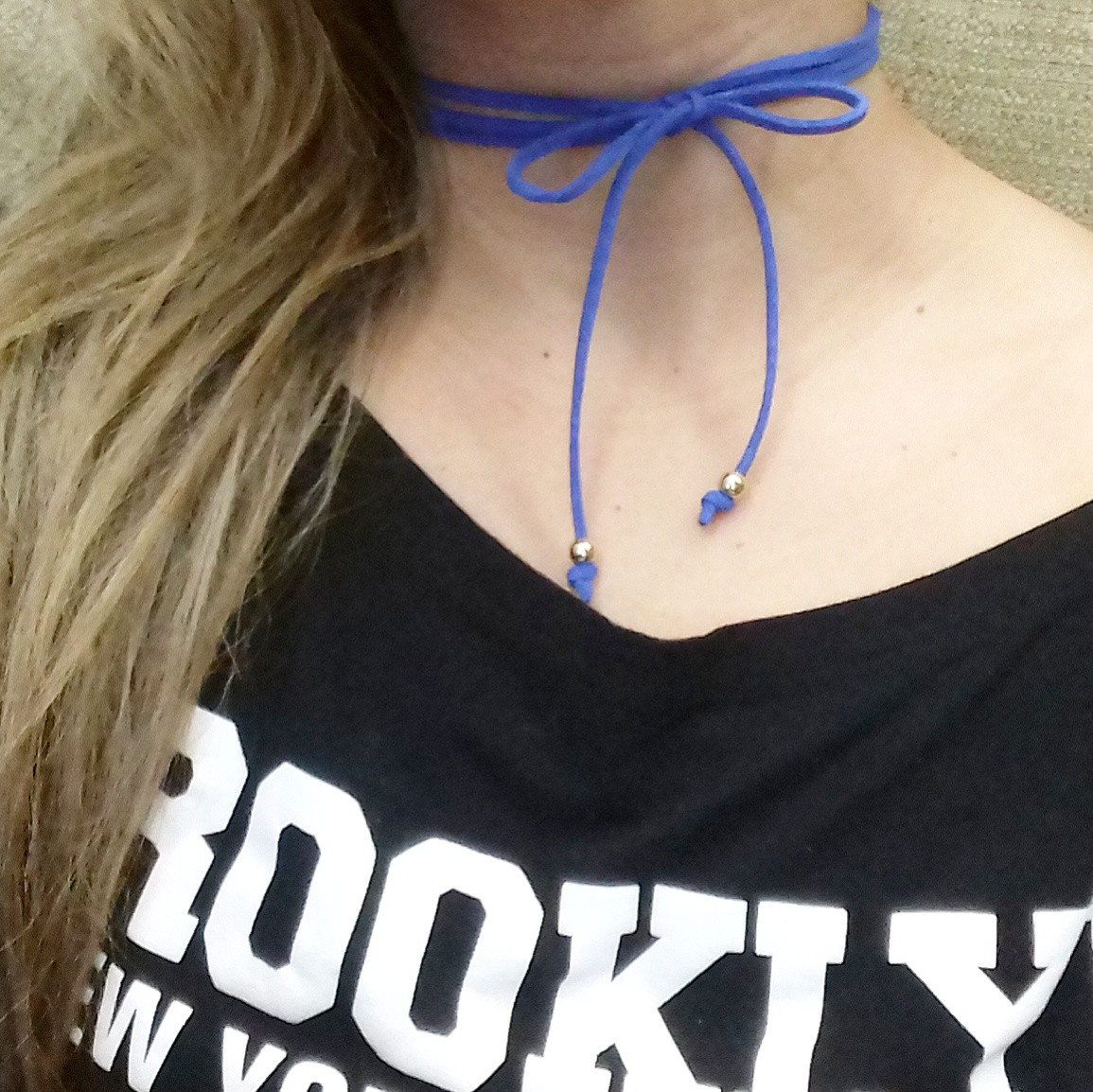 Choker azul  (Foto: Divulgação / DA YOKO Acessórios )