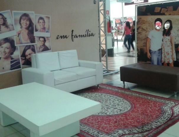 Espaço para fotos estará disponível no GV Shopping. (Foto: Deisianne Mendes / Inter TV )