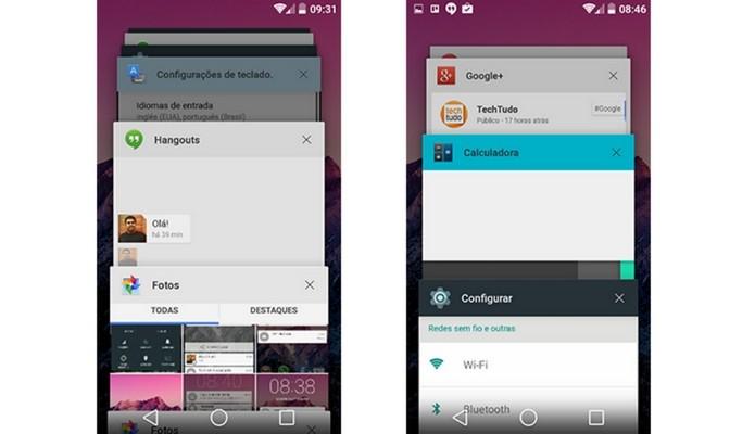 App Switcher, que mostra aplicativos abertos recentemente, tem erro (Foto: TechTudo)