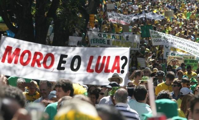 Manifestação em Belo Horizonte, 16/08/2015 (Foto: Divulgação)
