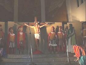Encenação Paixão de Cristo (Foto: Reprodução/TV Integração)
