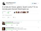 Cauã Reymond torce para Meryl Streep e Denzel Washington no Oscar