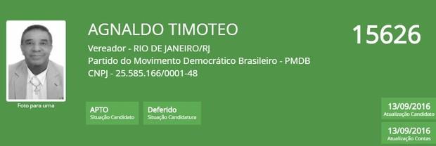 Agnaldo timoteo (Foto: Reprodução/TSE)