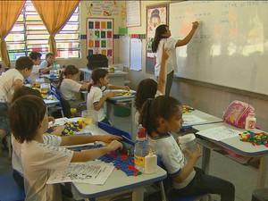 Sala de aula em Pernambuco (Foto: Reprodução/TV Globo)
