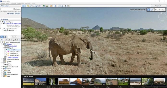 Faça um safári virtual com o Google Earth no PC (Foto: Reprodução/Barbara Mannara)