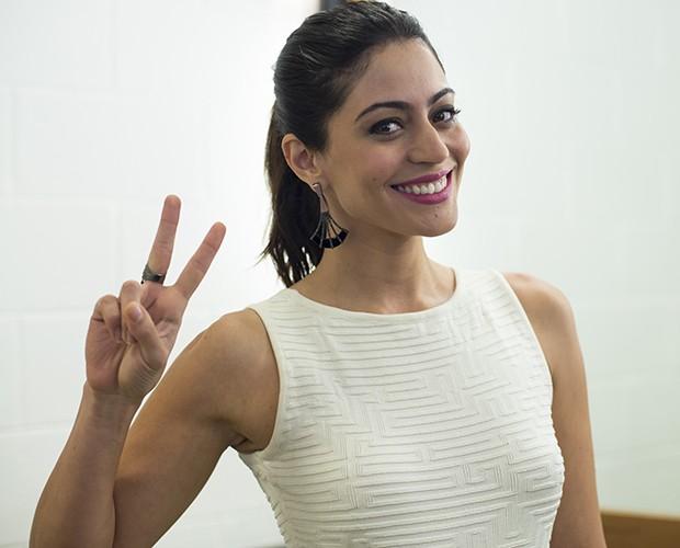 Carol Castro na Audição Online das Estrelas (Foto: Camila Serejo/Gshow)