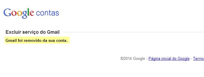 Confirmação de que o Gmail foi excluído (Foto: Reprodução/Helito Bijora)
