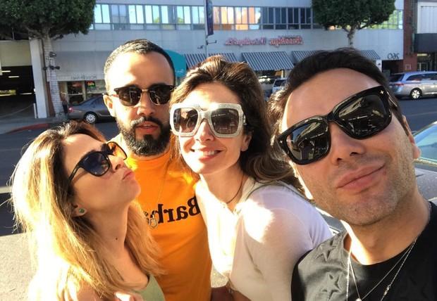 Luciana Gimenez e Tata Werneck se divertem em Los Angeles, nos EUA (Foto: Reprodução / Instagram)