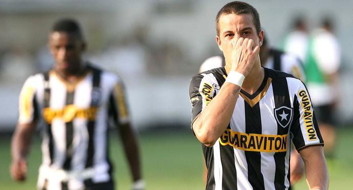 Jogadores do Botafogo contra o Santos (Foto: Guilherme Dionizio / Agência estado)