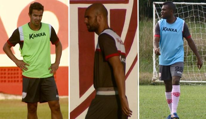 Bruno Ré, Gladstone e Clementino jogadores Mogi Mirim (Foto: Montagem)