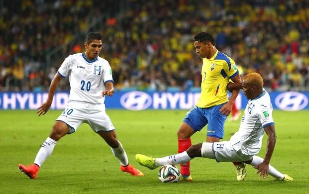 Jorge Claros jogo Equador x Honduras (Foto: Getty Images)