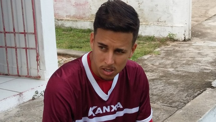 Marcos Júnior meia América-RN (Foto: Jocaff Souza/GloboEsporte.com)