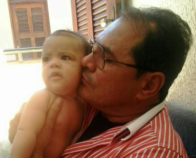 Boa da Semana: Para o Bosco a boa foi curtir a fofa da sua neta Ana Clara de dois  aninhos (Foto: Arquivo pessoal)