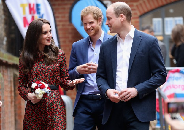 Kate Middleton, Príncipe William e Príncipe Harry (Foto: Getty Images)