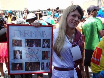 Mistura de Carminha e Nina no carnaval de Olinda. (Foto: Katherine Coutinho/G1)